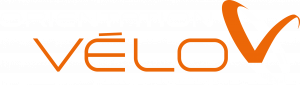 Logo original blanc avec écriture Orientation-Velo