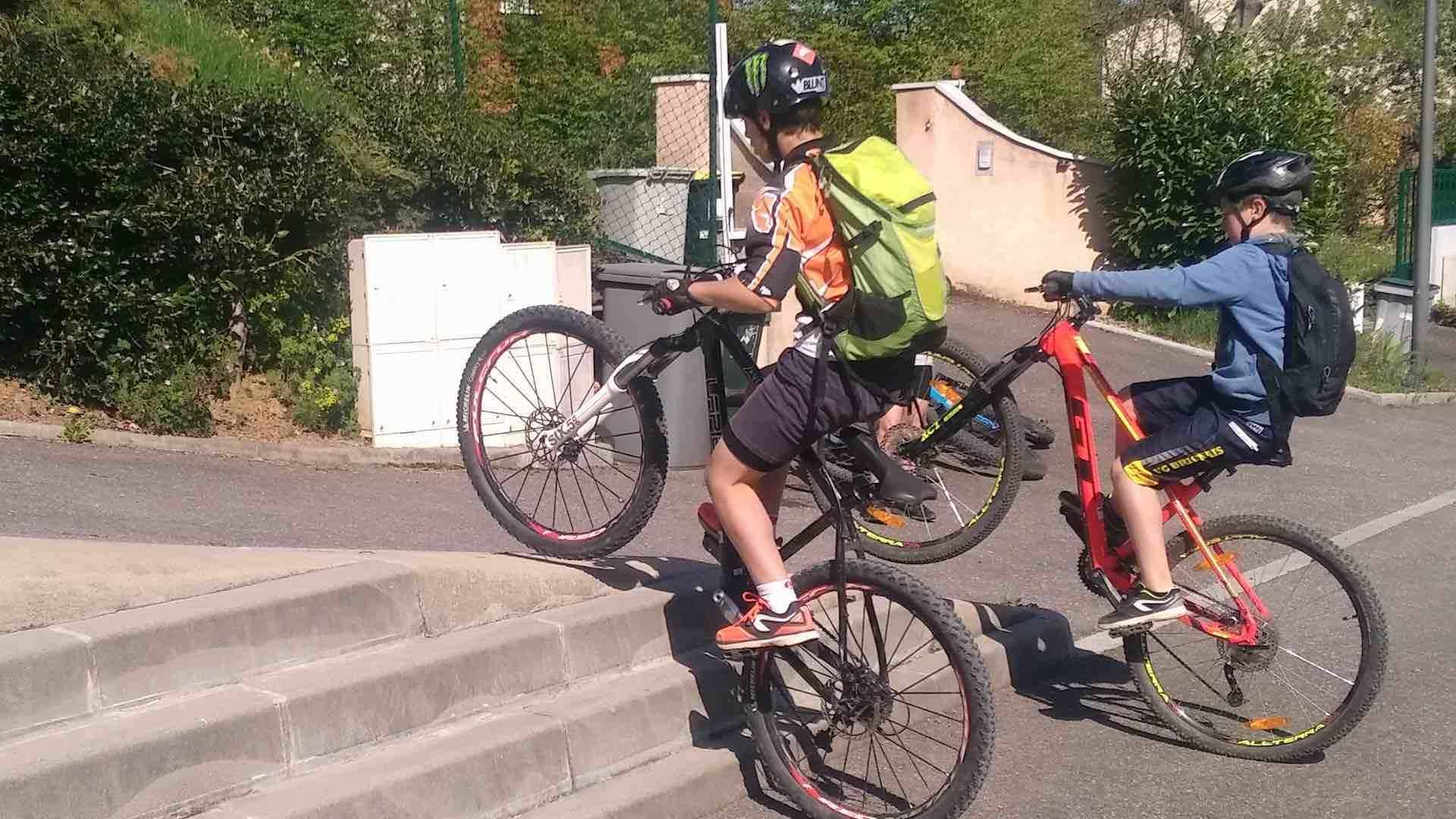 anniversaire à vélo VTT